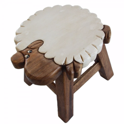 Children S Wooden Step Or Stool Sheep Design Personalised
